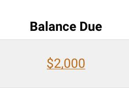 Balance Due