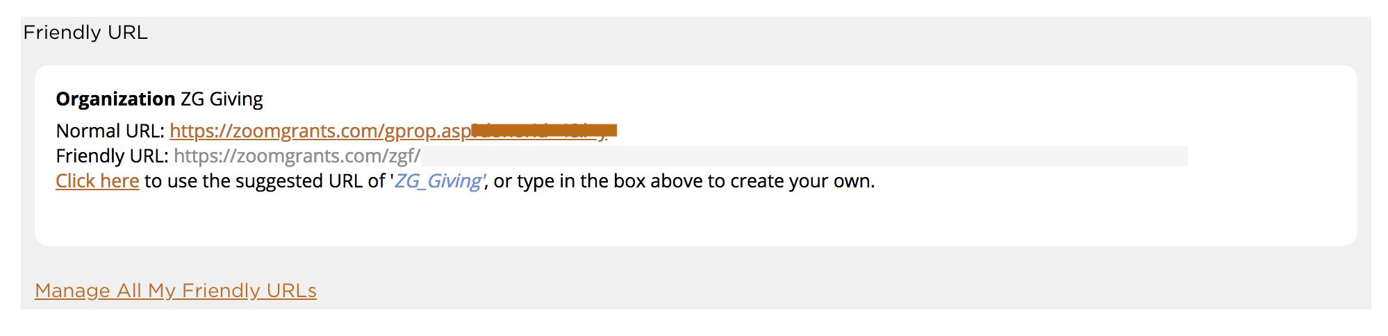Organization Friendly URL